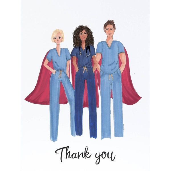 Superheroes in Scrubs Card