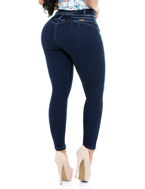 skinny jeans butt lift no pockets dark wash