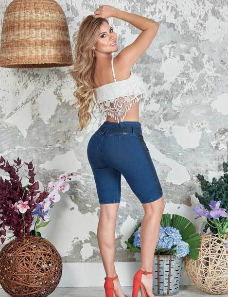 'Sunset' Capri Push Up Jeans Levantacola 10850