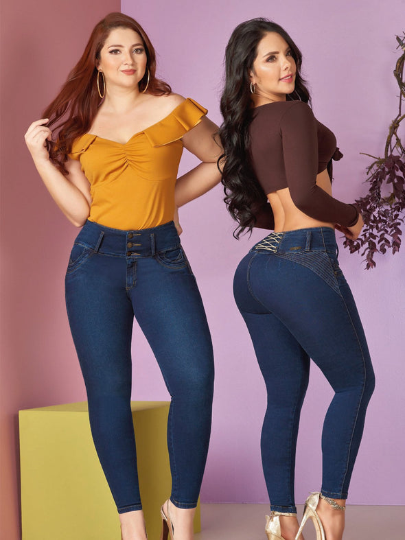 colombian latina woman wearing butt lift jeans