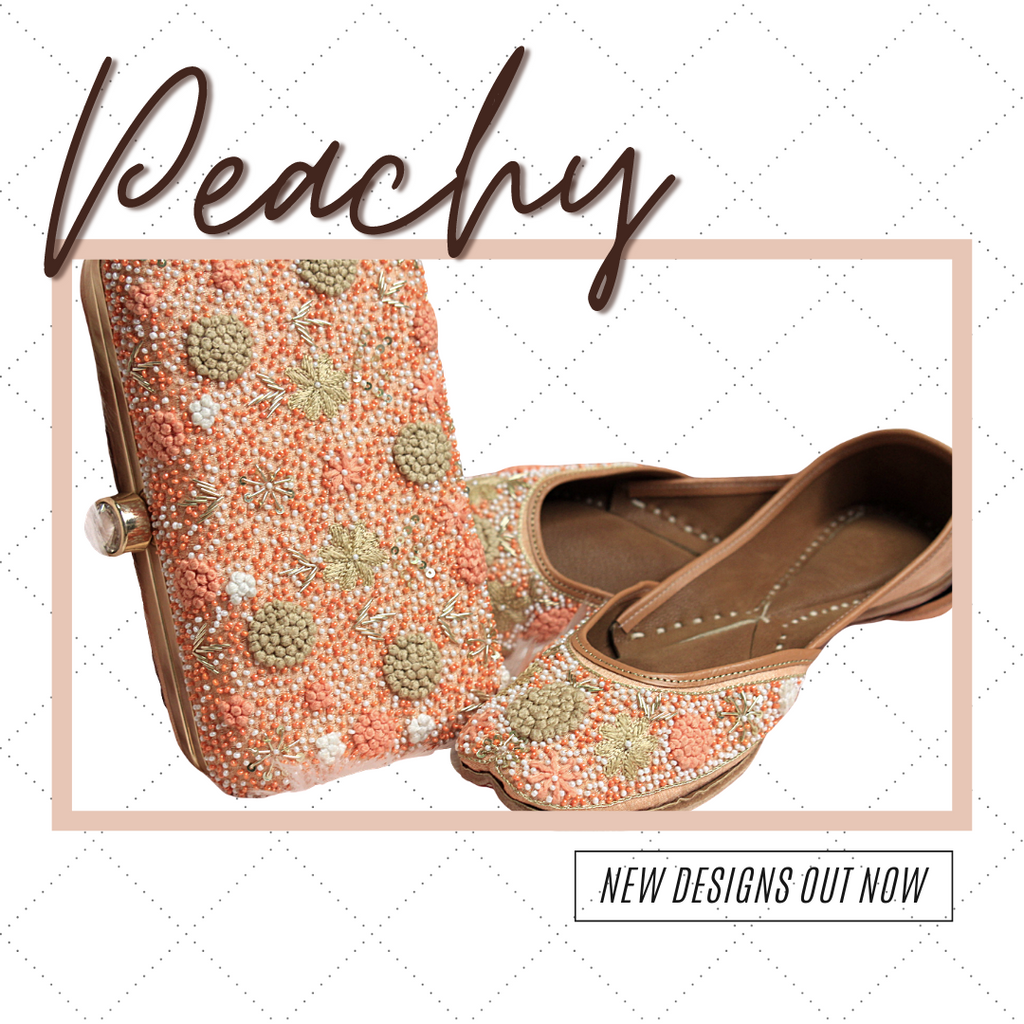 Peachy Clutch & Jutti Set