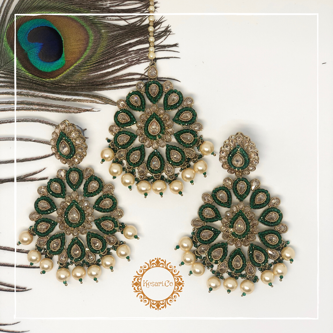 Kajol Earring & Tika Set