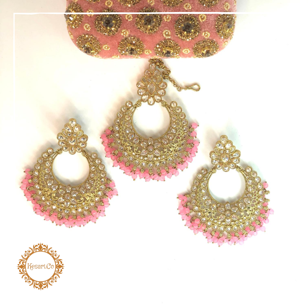 Piya Earrings & Tika Set