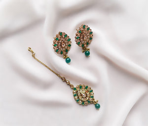 Aria Set (Pink/Emerald Green)