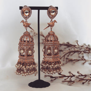 Baani Earrings (Silver/Rose Gold)