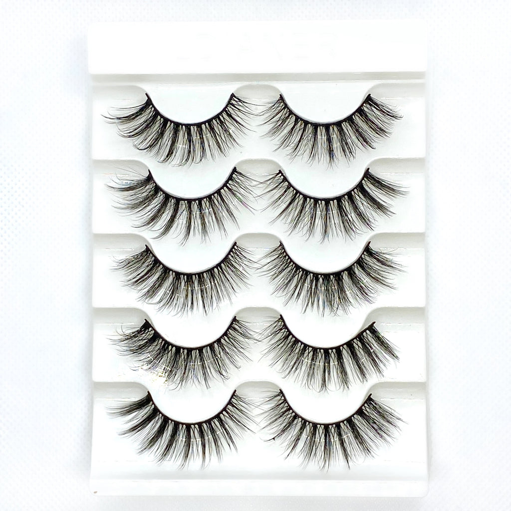 5 Pairs Faux Mink False Eyelashes