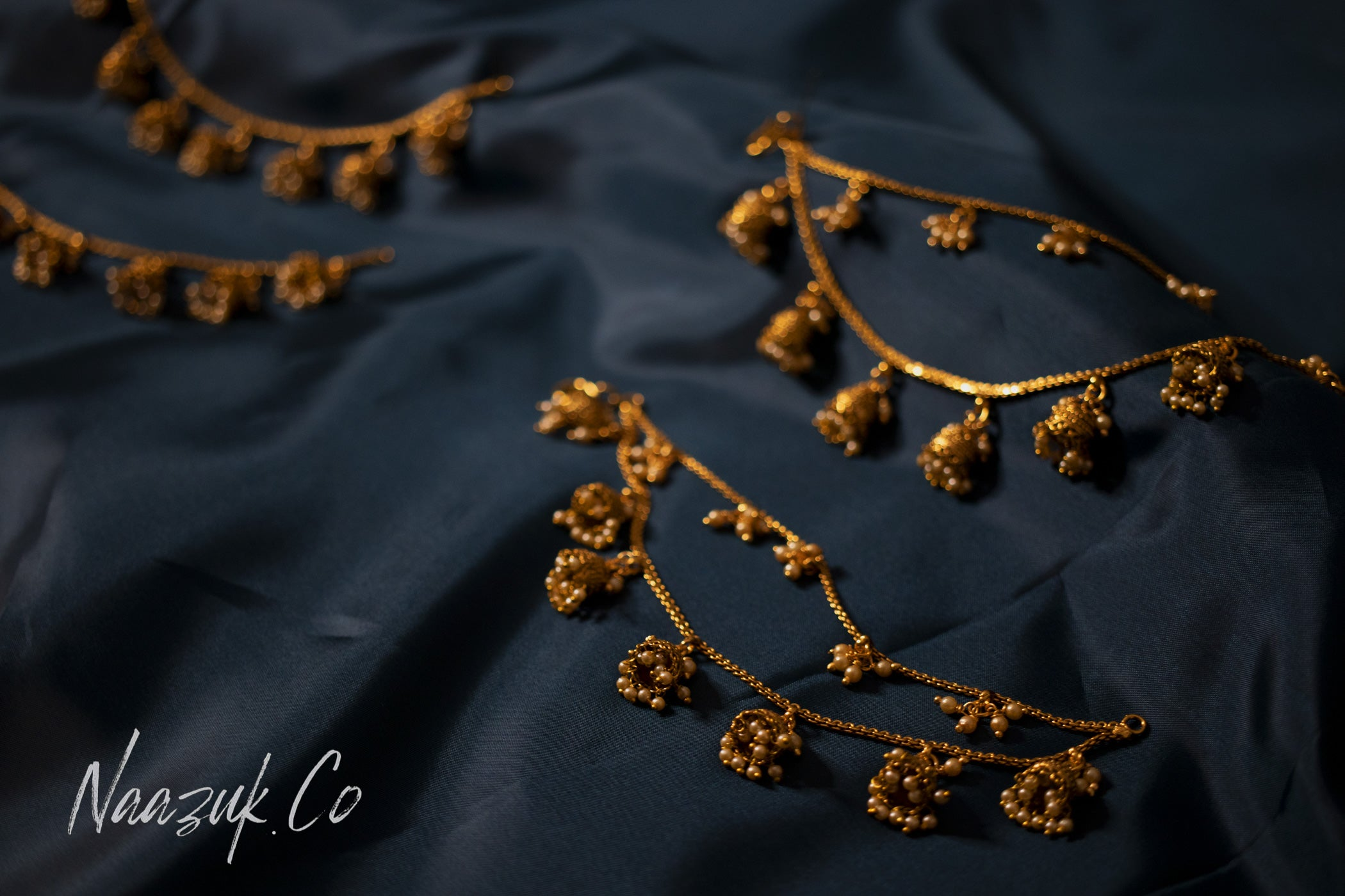 Gold Double Chain Set