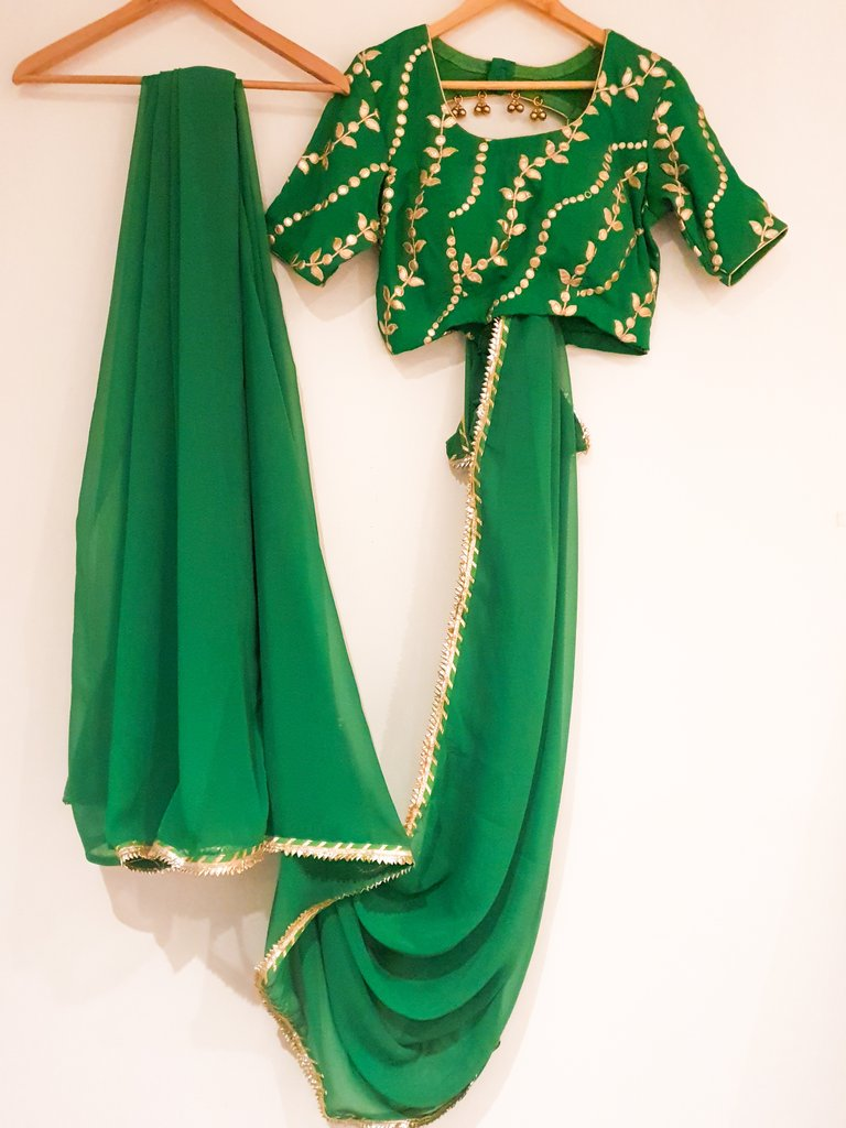 Green Saree with Blouse