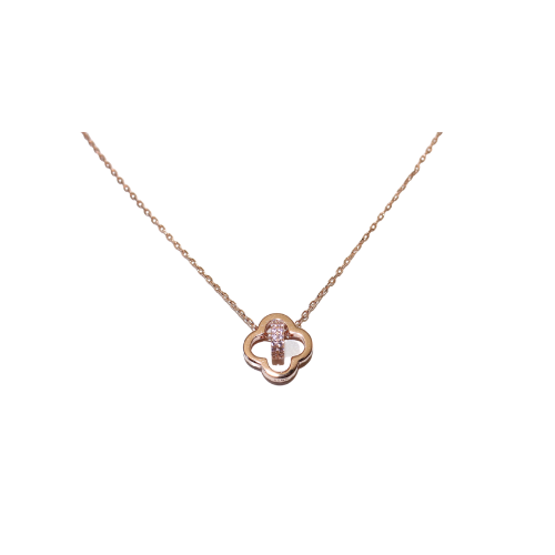 Hall Clover Rose Gold Necklace
