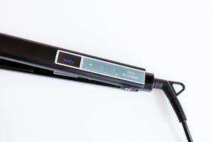 Matt Black Nav's Hair Titanium + Smart Technology Styling Iron