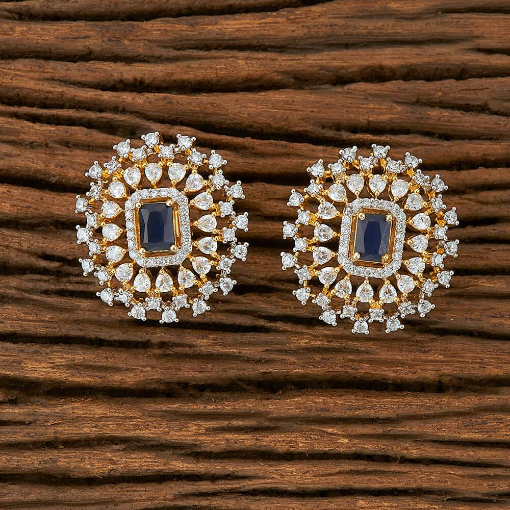 Navy CZ Earrings