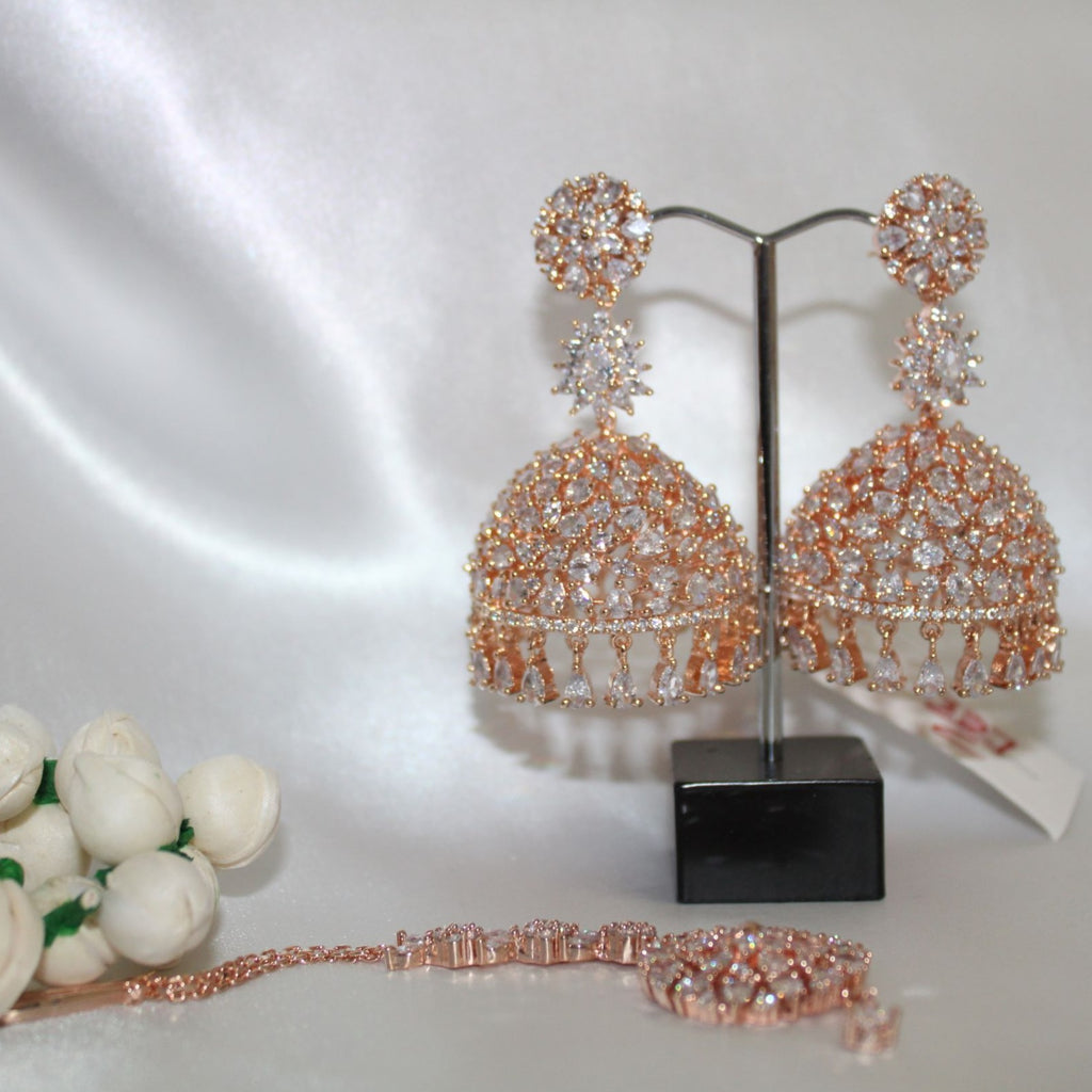 Sitara Set (Ruby Red/Pink Gold)