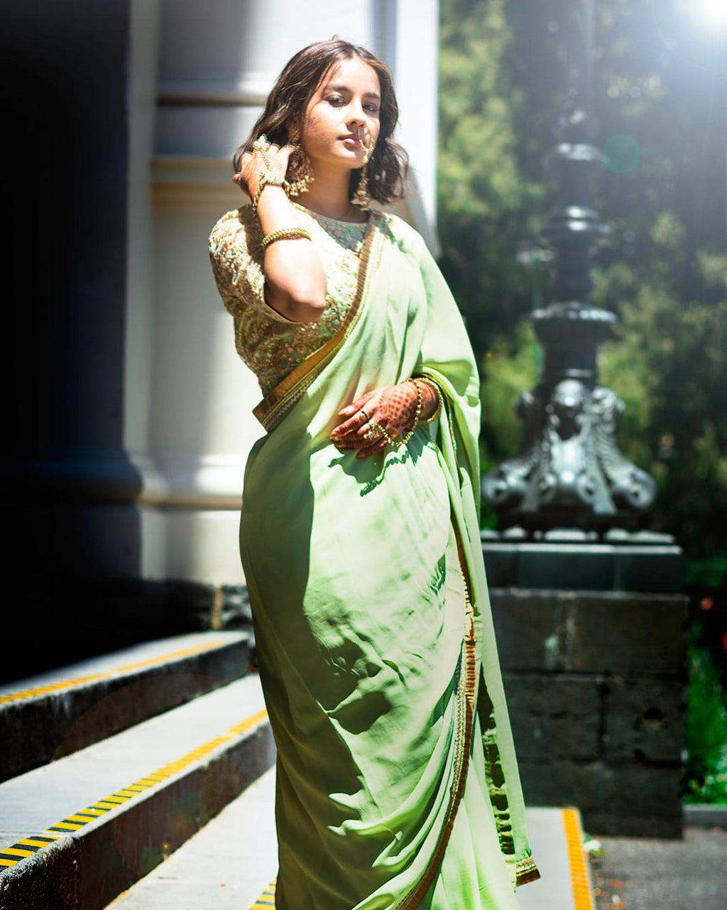 Fruit and Nut Saree