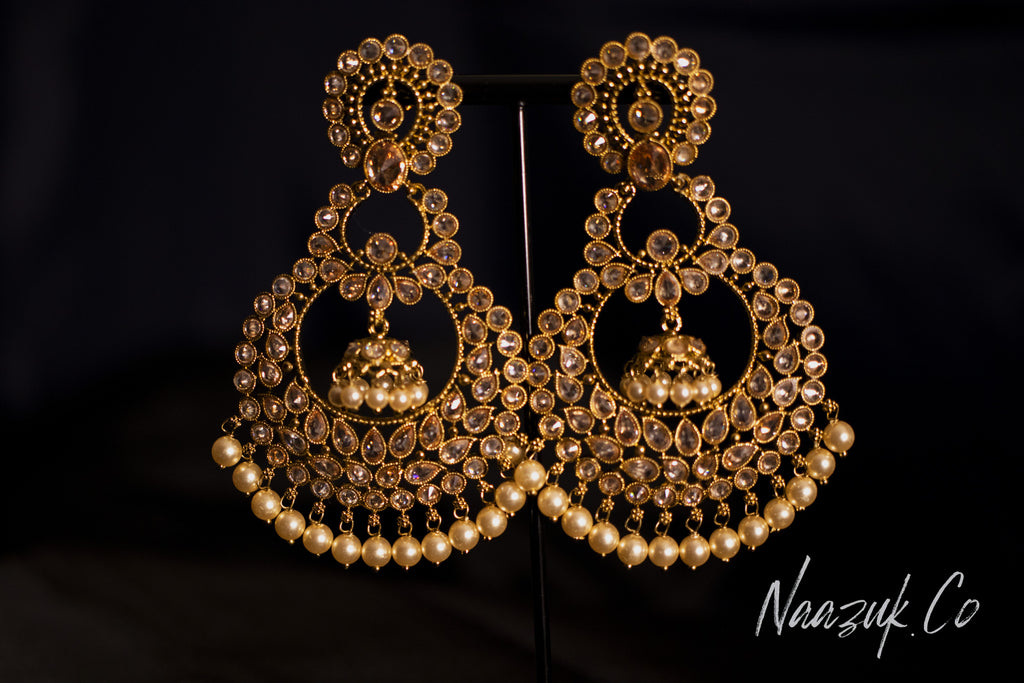 Timeless Gold Pearl Earrings
