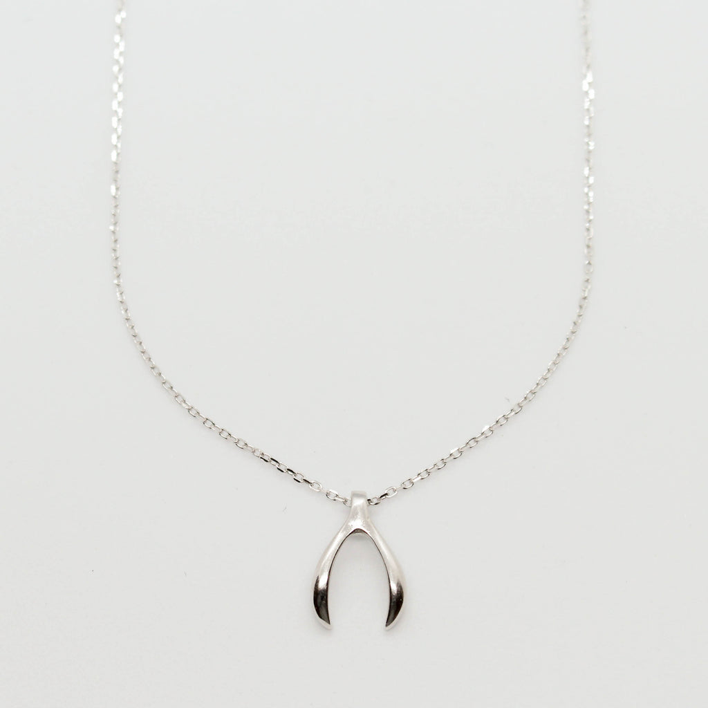 Wishbone Silver Necklace