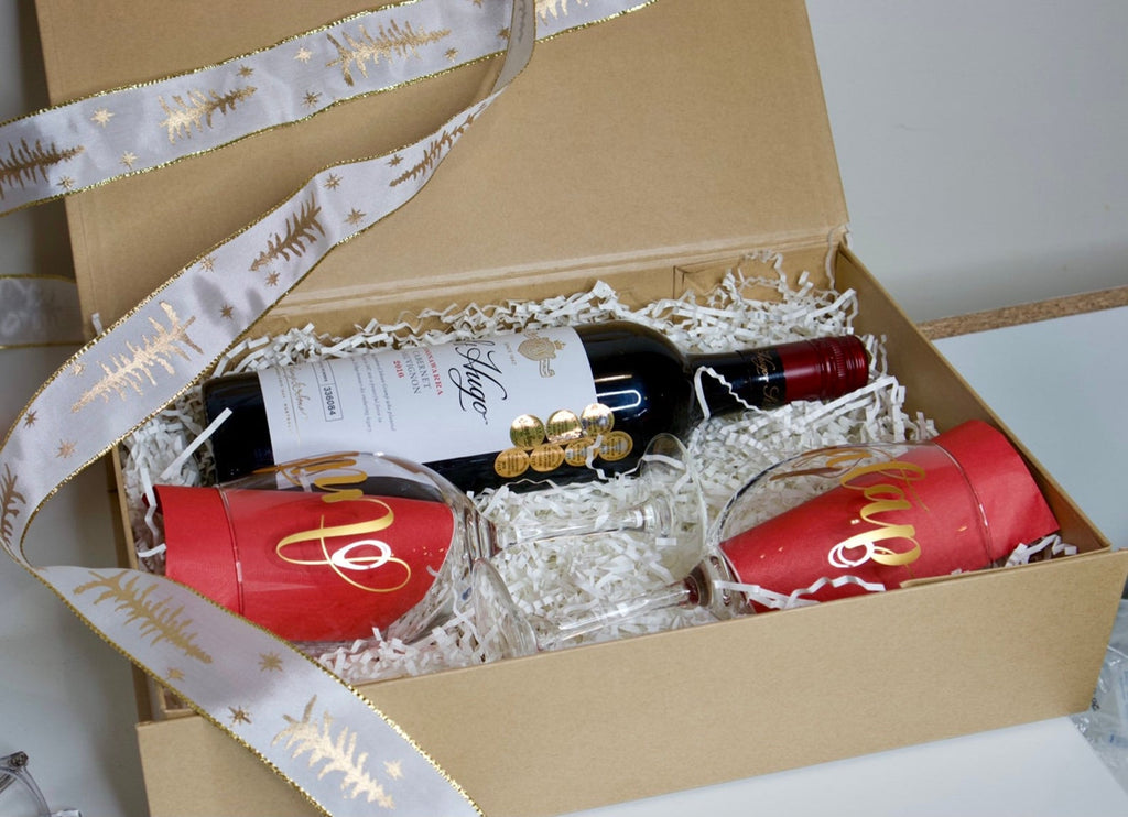 Christmas Wine Shimmer Box