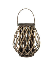 Load image into Gallery viewer, Wood Cage Lantern- Natural