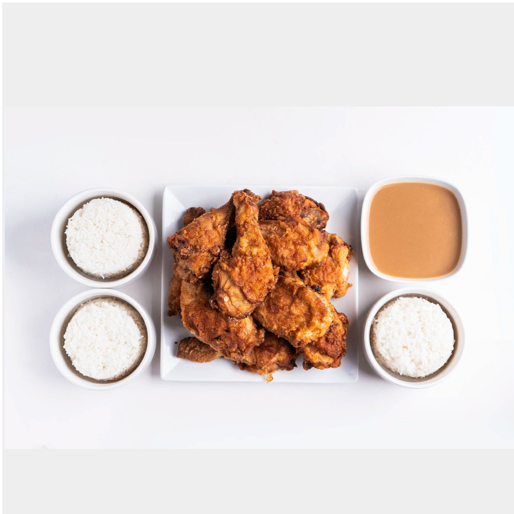 10 PC Original Fried Chicken with Gravy and Rice (good for 5-6 pax)