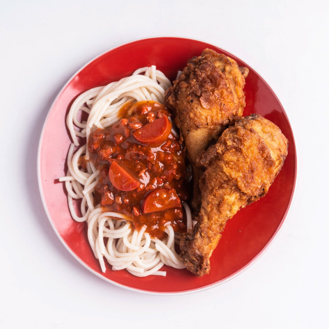 2 PC Original Fried Chicken with Spaghetti