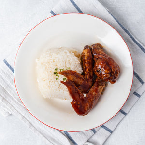 3 PC Original BBQ Wings with Rice