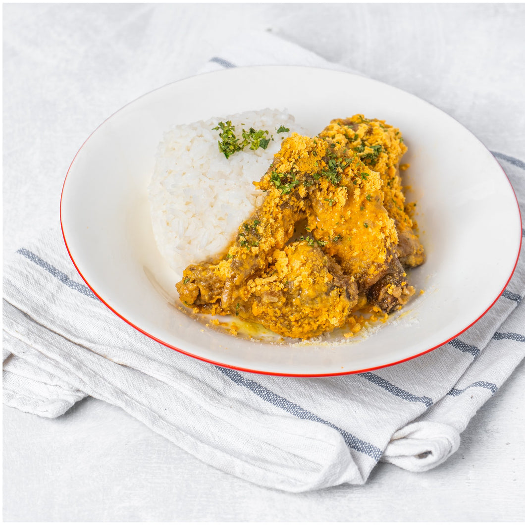 3 PC Salted Egg Wings with Rice