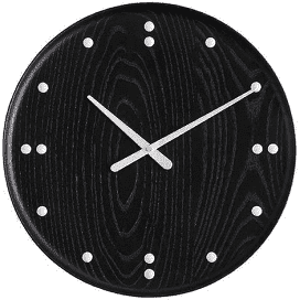 FJ CLOCK small 25 black by Finn Juhl