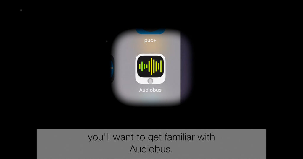 Using stock or the new sounds from the jamstik+ shop in GarageBand with Audiobus
