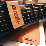 Blue jamstik+ Woodchuck wood onlay accessory