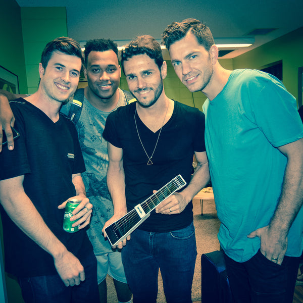 Greg Karas, Doug Wayne, Andy Grammer, and Jarod from Zivix with the Jamstik