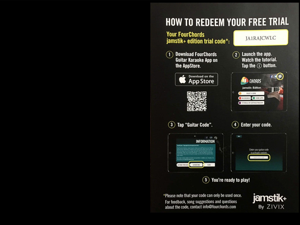 Redeem Card - FourChords jamstik+