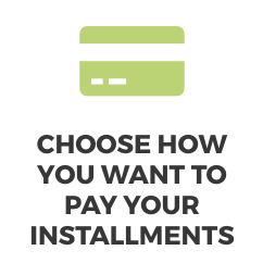 Choose how you want to pay your jamstik installments