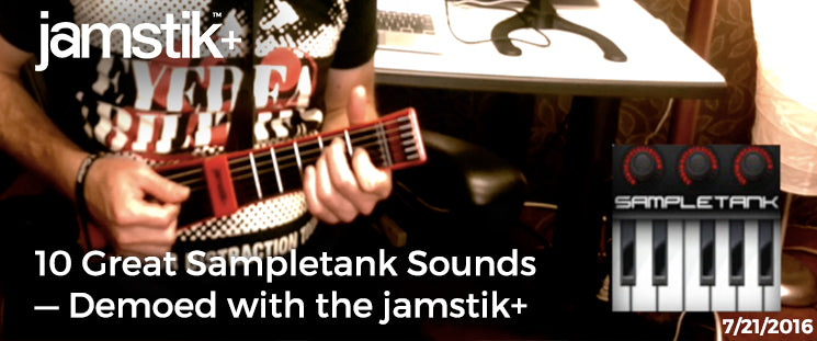 SampleTank Sounds with Jamstik