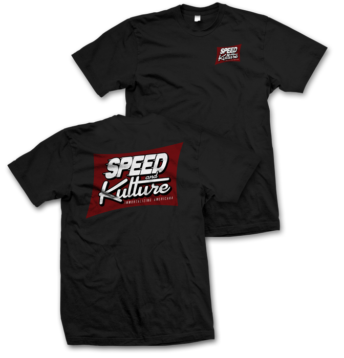 Speed and Kulture Magazine T-shirt Black