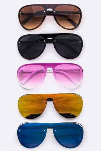 Shield Inspired Aviator Sunglasses