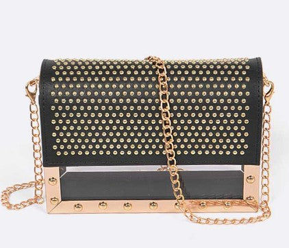 Studded Cleared Box Swing Bag