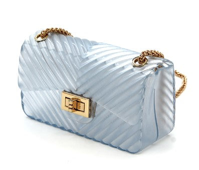 Clear Chevron Embossed Small Jelly Bag