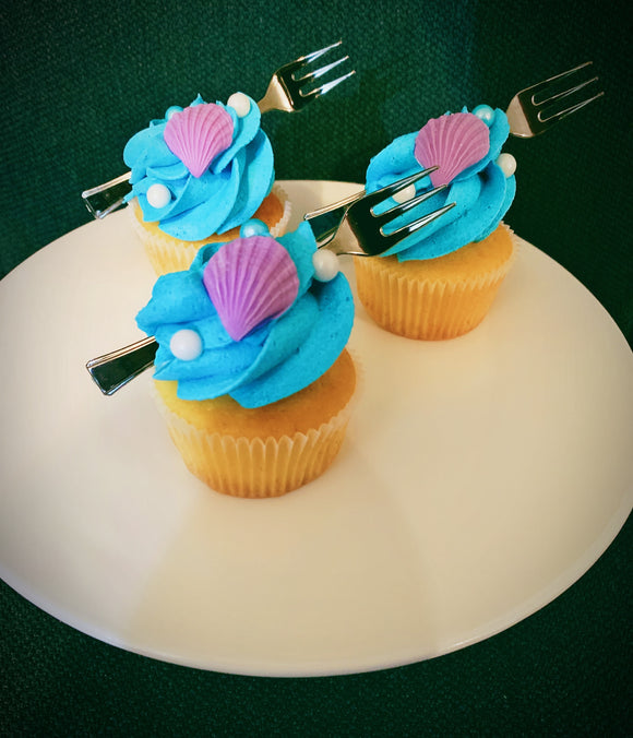 Little Mermaid Themed Cupcakes