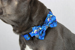 Doggie Blue Collar with Bow tie