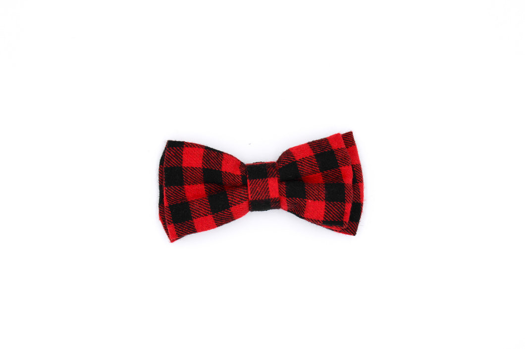 Big Dog Red and Black Bow Tie