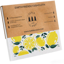 Load image into Gallery viewer, Lemon Swedish Dishcloths 5-Pack (3 Printed, 2 White)