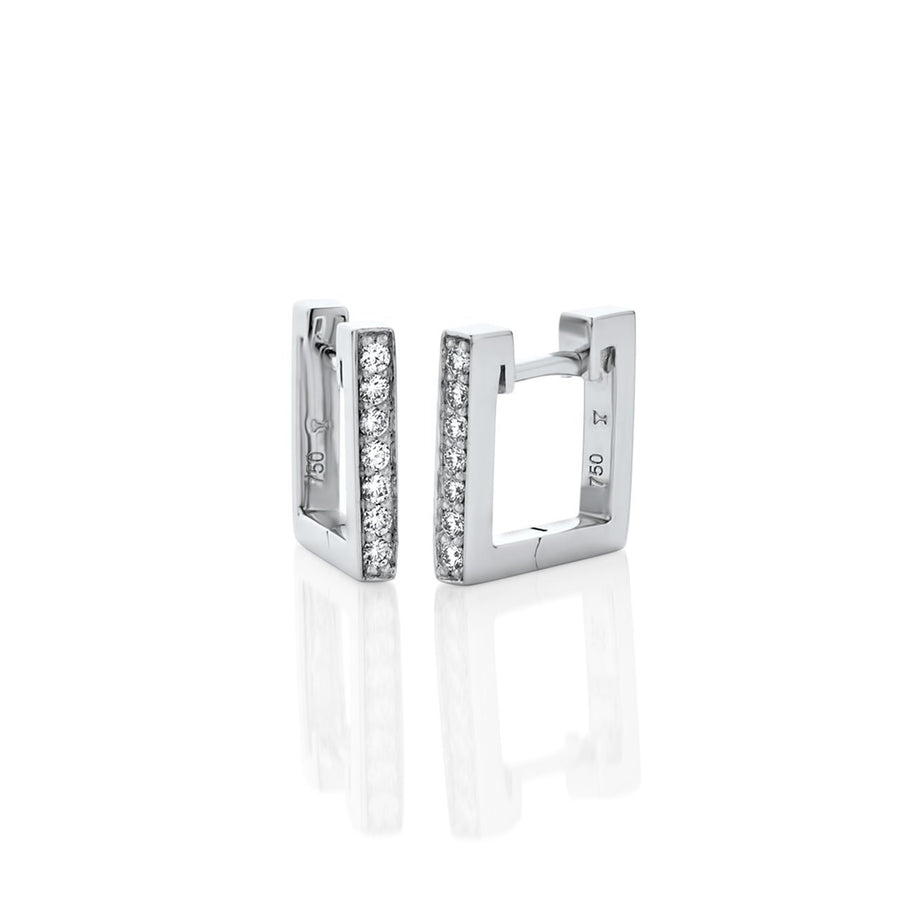 Square Diamond Hoops