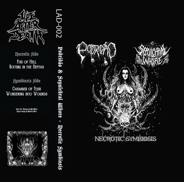 Podridão/Sepulchral Whore - Necrotic Symbiosis Split (TAPE)