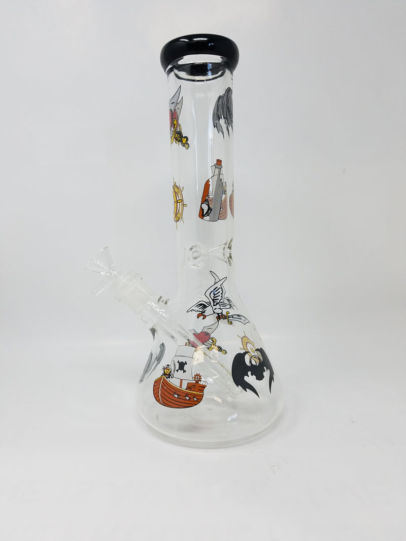"12"" Clear Cartoon Sticker Beaker"