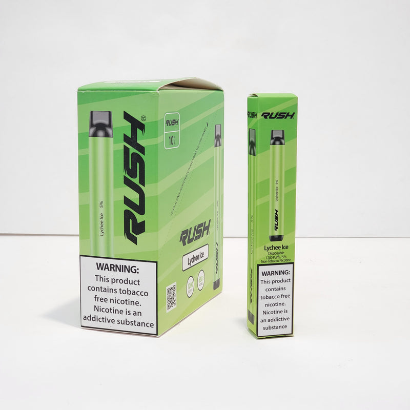 Rush TFN Disposable Pen 1600 puffs 10PK Tobacco Free Nicotine