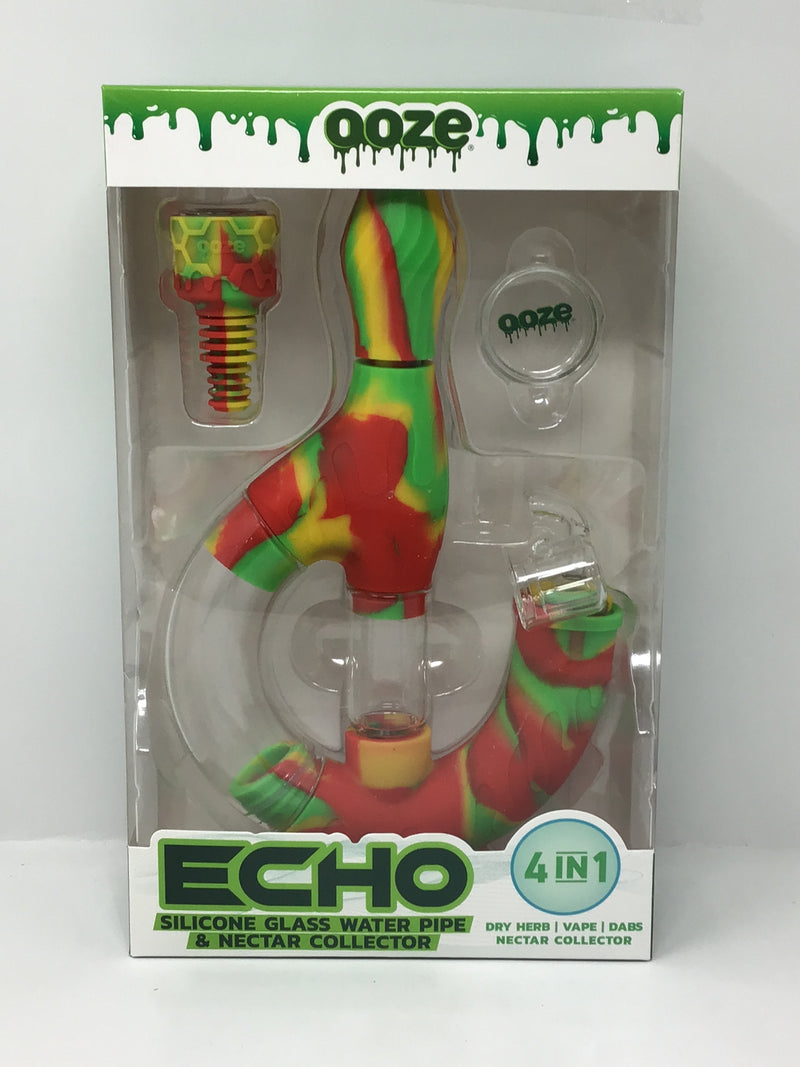 Ooze Echo Silicone Glass Water Pipe and Nectar Collector