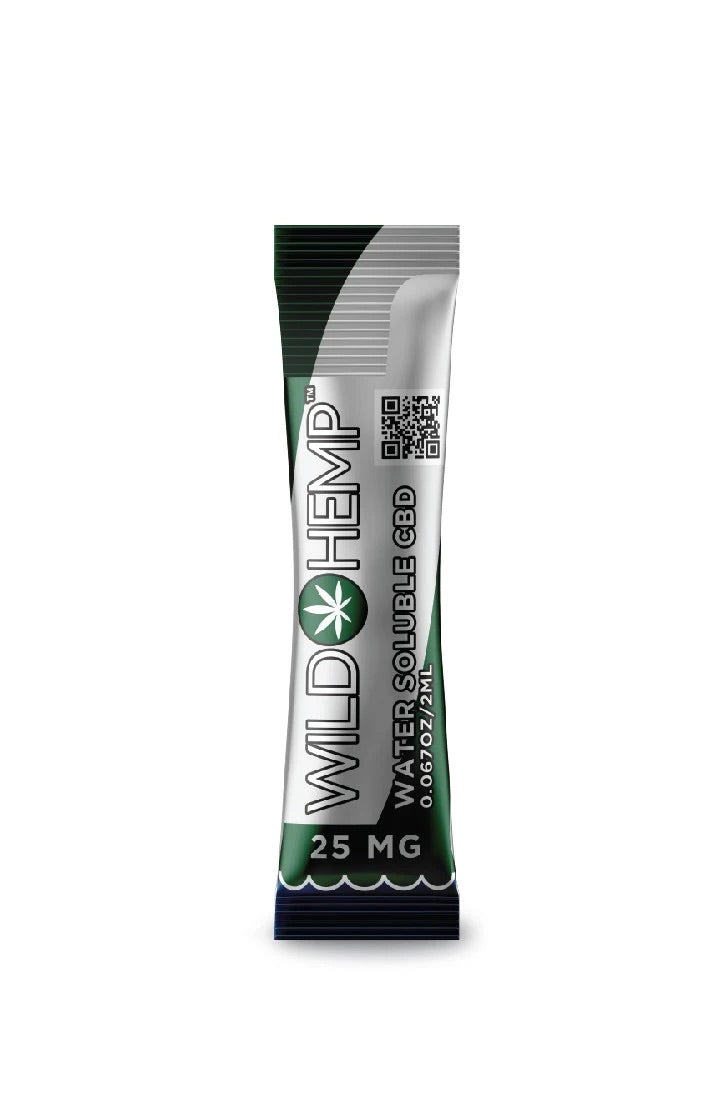 WILD HEMP 25mg CBD WATER SOLUBLE SHOT (50pcs/Jar)