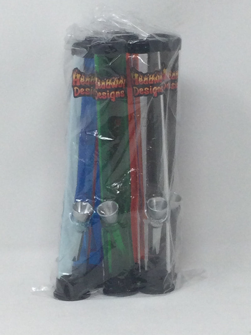 Mini Acrylic Pipes 6 pk Assorted Colors