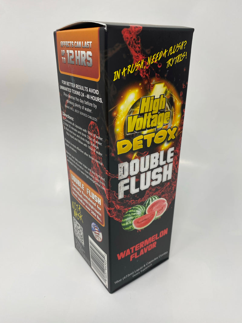 High Voltage Detox Double Flush (16oz Liquid & Capsules)
