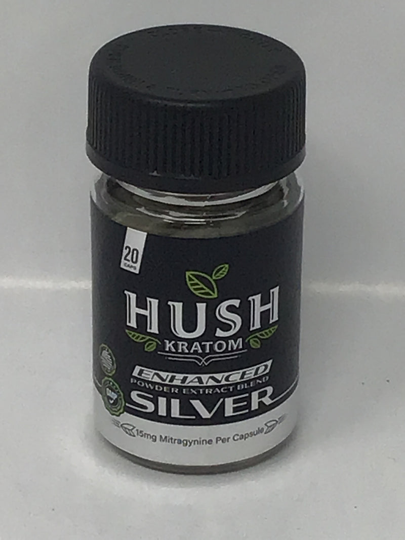 Hush Kratom Enhanced Silver
