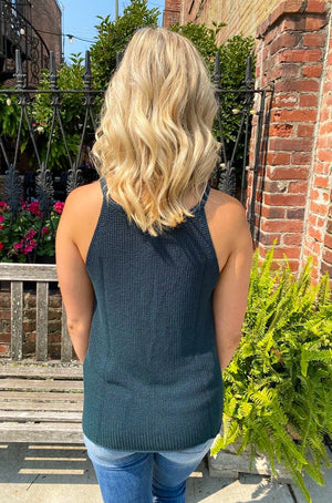 "<img src=""Halter-High-Neck-Sweater-Tank-Forest-Green-Back.jpg"" alt=""halter high neck sweater tank in forest green back view"">"